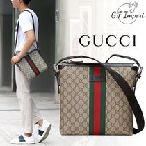 GUCCI GG Marmont Canvas Street Style Bi-color Messenger & Shoulder Bags