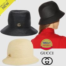 GUCCI GG Marmont Straw Hats