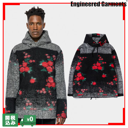 Pullovers Flower Patterns Unisex Wool Street Style