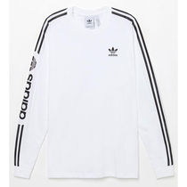 adidas Crew Neck Street Style Long Sleeves Logos on the Sleeves