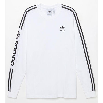 adidas Vests & Gillets Crew Neck Street Style Long Sleeves Logos on the Sleeves