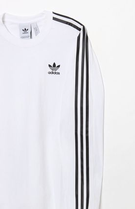 adidas Vests & Gillets Crew Neck Street Style Long Sleeves Logos on the Sleeves 2