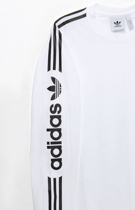 adidas Vests & Gillets Crew Neck Street Style Long Sleeves Logos on the Sleeves 3