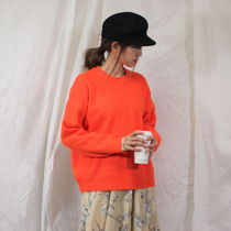 Crew Neck Cable Knit Casual Style Dolman Sleeves