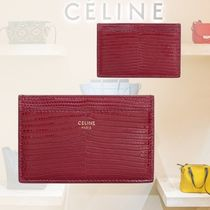 CELINE Leather Bold Card Holders