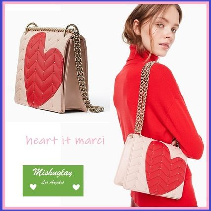 Heart 2WAY Leather Shoulder Bags