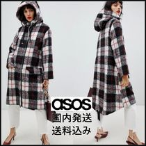ASOS Other Check Patterns Casual Style Wool Medium Coats