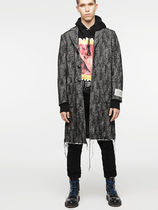 DIESEL Wool Street Style Long Chester Coats