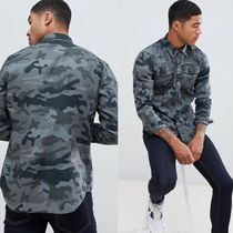 G-Star Camouflage Street Style Long Sleeves Cotton Shirts