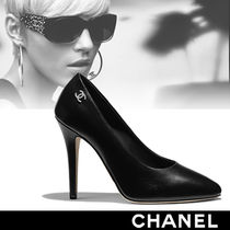 CHANEL Leather High Heel Pumps & Mules