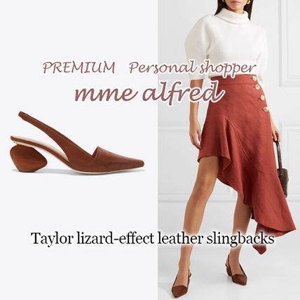 Casual Style Plain Leather Block Heels Heeled Sandals