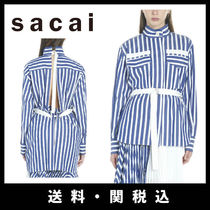 sacai Stripes Casual Style Long Sleeves Shirts & Blouses