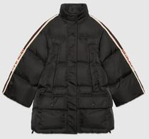 GUCCI Blended Fabrics Street Style Plain Long Down Jackets
