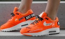 Nike AIR MAX 1 Unisex Street Style Leather Low-Top Sneakers