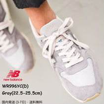 New Balance 996 Casual Style Suede Street Style Plain Low-Top Sneakers