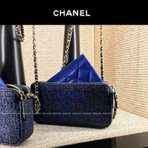 CHANEL DEAUVILLE Canvas 2WAY Chain Plain Elegant Style Shoulder Bags
