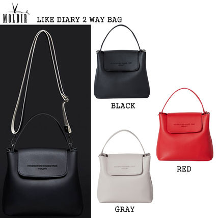 Casual Style Studded Street Style 2WAY Plain Shoulder Bags