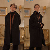 LUV IS TRUE Casual Style Wool Street Style Plain Oversized Chester Coats