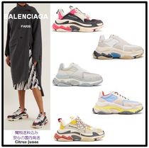 BALENCIAGA Triple S Casual Style Unisex Street Style Plain Low-Top Sneakers