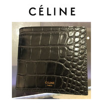 CELINE Unisex Calfskin Folding Wallets