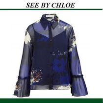 See by Chloe Flower Patterns Long Sleeves Shirts & Blouses