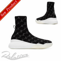 Stella McCartney Monogram Round Toe Rubber Sole Casual Style Low-Top Sneakers