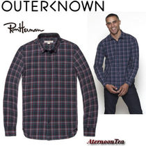Outer known Other Check Patterns Long Sleeves Cotton