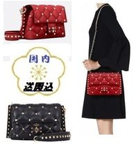 VALENTINO Studded 2WAY Chain Leather Elegant Style Shoulder Bags