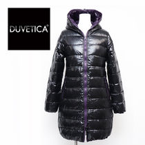 DUVETICA Street Style Plain Long Midi Down Jackets