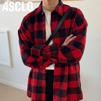 ASCLO Other Check Patterns Casual Style Unisex Wool Street Style