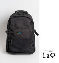 Unisex Street Style Plain Oversized Backpacks