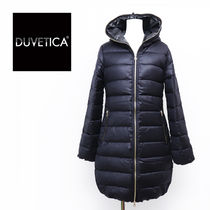 DUVETICA Wool Street Style Plain Long Midi Down Jackets