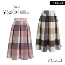 Chicwish Stripes Medium Midi Skirts
