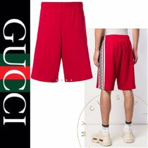 GUCCI Printed Pants Stripes Street Style Cotton Patterned Pants