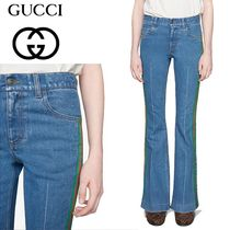 GUCCI Cotton Long Wide & Flared Jeans