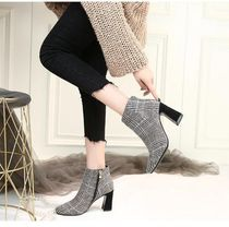 Other Check Patterns Elegant Style Chunky Heels