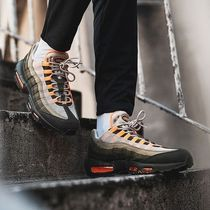 Nike AIR MAX 95 Unisex Blended Fabrics Street Style Bi-color Sneakers