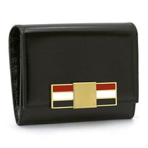 THOM BROWNE Plain Leather Folding Wallets