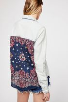 Free People Paisley Casual Style Unisex Street Style Long Sleeves Plain