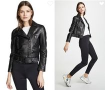 Acne Short Casual Style Leather Jackets