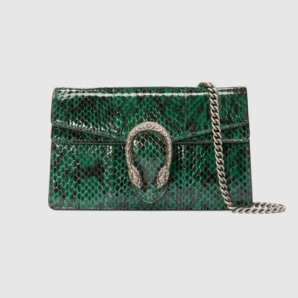 aaed29c258d ... GUCCI Shoulder Bags Blended Fabrics 2WAY Chain Leather Party Style  Python ...