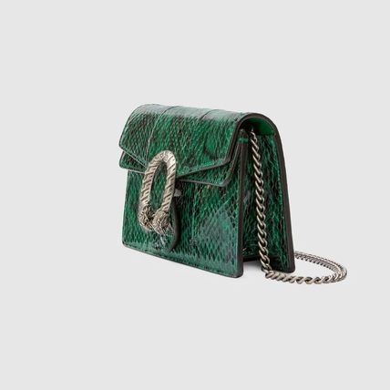 fb39c916622 ... GUCCI Shoulder Bags Blended Fabrics 2WAY Chain Leather Party Style  Python 2 ...