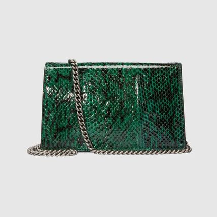 b4c0103c50a ... GUCCI Shoulder Bags Blended Fabrics 2WAY Chain Leather Party Style  Python 3 ...