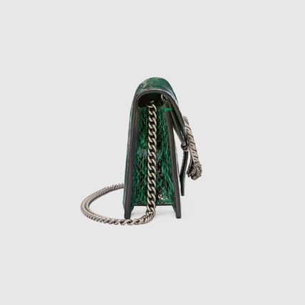 955238ebe36 ... GUCCI Shoulder Bags Blended Fabrics 2WAY Chain Leather Party Style  Python 4 ...