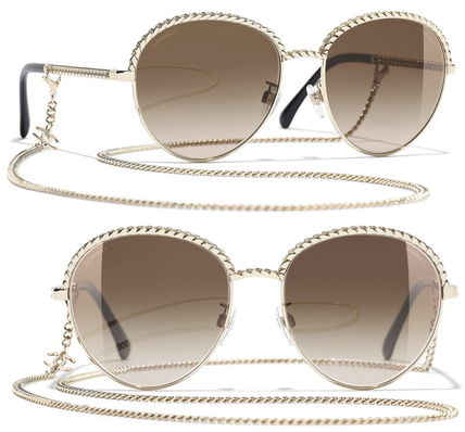 CHANEL Chain Sunglasses