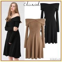 Chicwish Flared Plain Medium Party Style Dresses