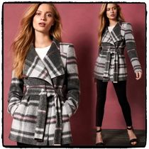 TED BAKER Other Check Patterns Wool Medium Elegant Style Wrap Coats