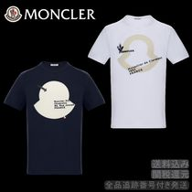 MONCLER Crew Neck Pullovers Street Style Bi-color Cotton