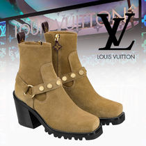 Louis Vuitton Casual Style Blended Fabrics Block Heels