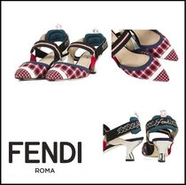 FENDI Other Check Patterns Monogram Casual Style Street Style